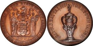 MED028  Rare 1881 New Jersey Battalion Yorktown Centennial Medal. HK-Unlisted.