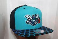 Charlotte Hornets Mitchell & Ness NBA Black Team Logo Snapback,Hat,Cap     NEW