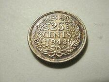 Netherlands 1943/1-P 25 Cents Overdate Variety