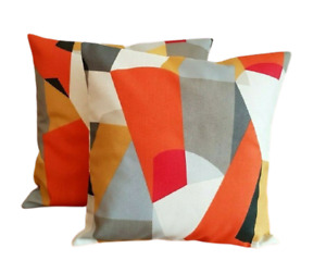 "14"" 16"" 18"" 20"" New Cushion Cover Harlequin Scion Pucci Orange Geometric Design"