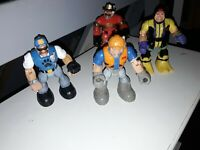 Vintage 1990s Fisher price rescue heroes Bundle joblot x4 mixed characters