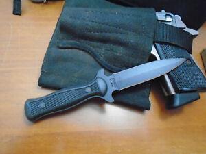 "CAMILLUS 7 INCH DOUBLE EDGE KNIFE, DAGGER KNIFE & SHEATH, 3 1/4"" BLADE USA"