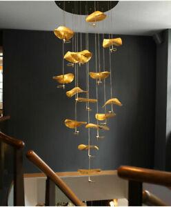 Modern Gold Copper Pendant Lights Home Living Room Bedroom LED Chandelier decor