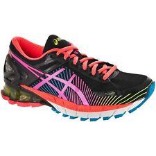 NIB ASICS Women GEL-Kinsei 6 Running Shoe T692N 9034 Black Hot Pink Flash Yellow