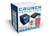 CRUNCH CPX750.1 DEFINITION Basspack 1CH Subwoofer + Mono Verstärker + Kabel NEU