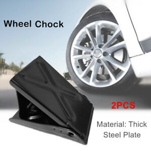 Wheel Chocks Tire Chock 2 Pack Car Anti-Slip Block Tyre Stopper Tire Support Pad