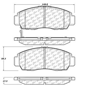 StopTech 105.15060 Disc Brake Pad Fits 11 Accord