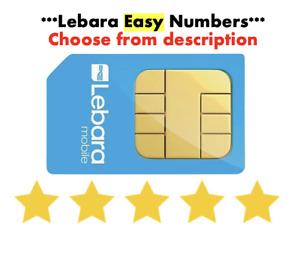 GOLD VIP Lebara Sim Card PayG Fancy EASY Fancy Good NUMBER Choose from List
