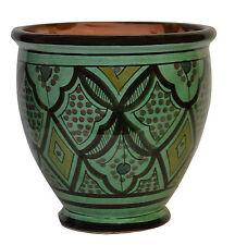 Moroccan Mediterranean Flower Pot Ceramic Drain Terracotta Planter Plant Mexican