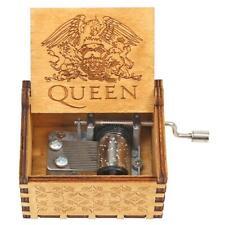 H3E# Retro Hand Cranked Wood Music Box Party Xmas Gift Household Decor Ornament