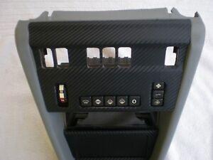 90-95 MERCEDES W124 300E 300CE E320 USED GRAY CENTER CONSOLE CARBON WRAPPED