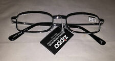 Zippo Stylish Unisex Reading Glasses Silver Frames+1,00+1,50+3,00+3,50