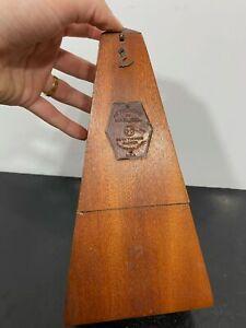 Vtg SETH THOMAS Wood Metronome De Malzel