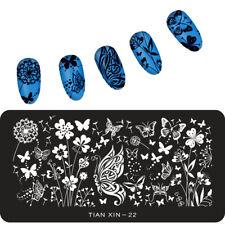 Mariposa para Uñas Stamping Placa Placas De Diseños De Imagen del sello vendedor de Reino Unido