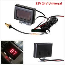 12V 24V Universal Digital Water Temperature Gauges for Car+Sensor Head Plug 10mm