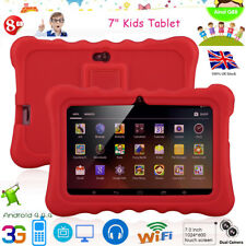 "7"" TOUCH KIDS ANDROID 4.4 TABLET PC QUAD CORE 8GB ROM WIFI CHILDREN CHILD Gift"