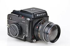 Mamiya 645 Mittelformatkamera + Mamiya Sekor C f-80mm 1:2.8 + Hoya 58mm +1