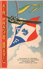 Postcard: Air France Brasil - Crossing the South Atlantic by Air Mail in 2 Days