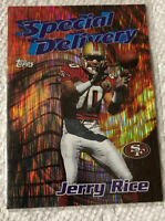 1997 Topps Chrome Jerry Rice #5 Career Best Special Delivery Insert 49ers HOF