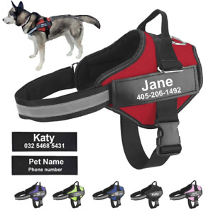 Dog Vest WITH ID Walking Outdoor Dog Harness NO PULL Reflective Adjustable Easy