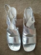 Socialites women's Silver Sandals with heels, size 7.5 Narrow
