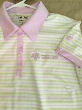 WOMENS Shirt Polo Golf Sz M ADIDAS CLIMA COOL PHOENIX OPEN White Pink Poly 👍🏻