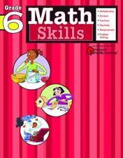Math Skills: Grade 6 (Flash Kids Harcourt Family Learning)-ExLibrary