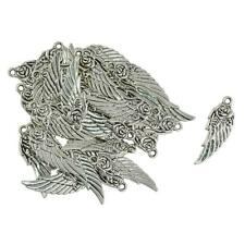30pcs DIY antike Silber Steampunk Engel Flügel Rose Charm Anhänger 11x31mm