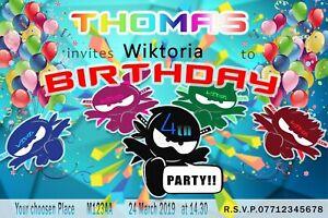 Personalised Birthday Party Kids Invitation Card Ninja KidZ