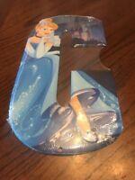 "Cinderella Disney Princess Tin Metal Letter ""C"" Sign Wall Art Decor Collectible"