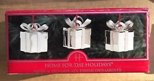 Home for the Holidays Silver plate Christmas gifts Ornaments set of 3