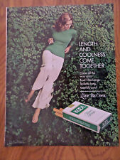 1972 Kool Cigarettes Ad Length & Coolness Come Together  Lady be Cool