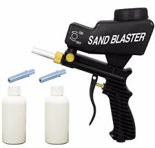 LEMATEC Sandblaster Gun With two Abrasives Canned & Tips Black Sandblasting Tool