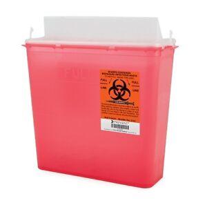 CASE OF 20! Sharps Container 5 Quart Red In-Room Multipurpose Doc Tattoo SHARP