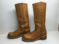 VTG WOMENS UNBRANDED CAMPUS BROWN BOOTS SIZE 7