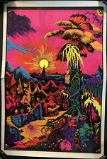 Original Vintage Poster Lost Horizons Blacklight pinup Headshop psychedelic 70s