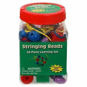 Stringing Beads Tub by Eureka 58 Piece Learning Set