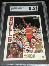 1992-93 Topps Archives Gold MICHAEL JORDAN #52 Chicago Bulls SGC 8.5
