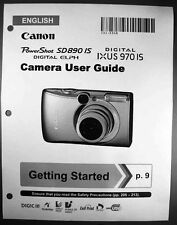 Canon Powershot SD890 IS IXUS 970 IS  Digital Camera User Guide Manual