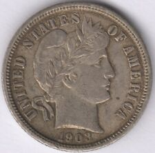 More details for 1903 u.s.a.barber dime | world coins | pennies2pounds