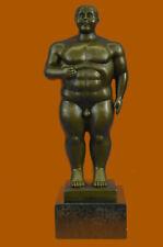 FERNANDO BOTERO TRIBUTE - BRONZE SCULPTURE - ADAM: STANDING MAN HOME DECORATION
