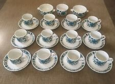 More details for 12 staffordshire midwinter spanish garden cups and saucers made in england