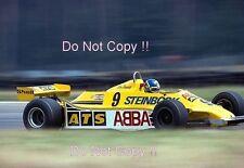 Slim Borgudd ATS HGS1 F1 Season 1981 Photograph