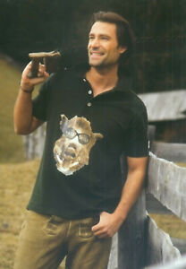 """1/2 Arm Poloshirt + Druck """"SAU WILD"""" Shirt Hemd OS-TRACHTEN Oktoberfest        S"""