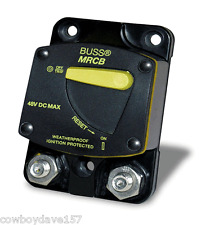 Bussman DC Circuit Breaker MRCB 120 amp 187120F Manual Reset CB187F-120