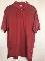 Adidas Climalite Polo Golf Shirt Large Red Gray Short Sleeve Mens S