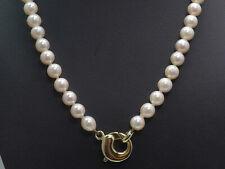 Collier Perlenkette 585 GOLD 14 Karat necklace Kette Gelbgold Perlen Art Deco