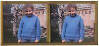 Snapshot Foto Amateur E1 Placca Da Lente Stereo Colore 6x13 CM