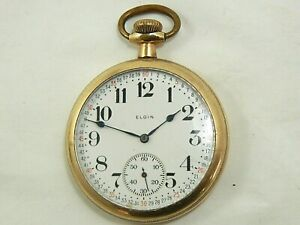 ELGIN Montgomery Dial 16S Gold Filled 20 years Pocket Watch