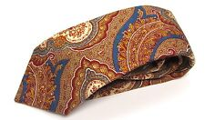 Vtg Liberty of London Berkley Paisley Mens Tie 100% Wool Necktie Paisley Floral